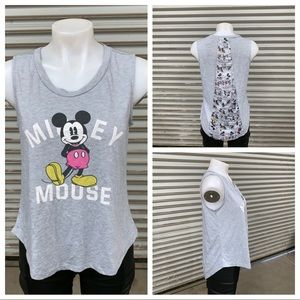 Disney sleeveless top with Micky mouse on front